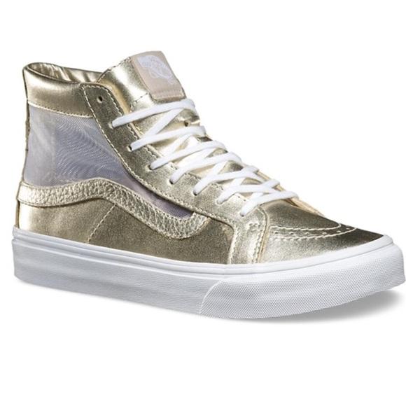metallic gold high top vans. M 5a86201f36b9de4a7cda7a00 0d52897fe